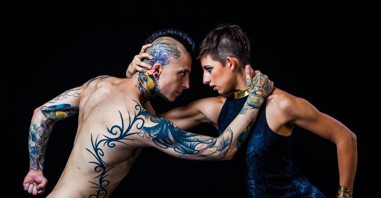 portrait of a punk couple